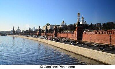 rivière, moscou, vue, russie, kremlin