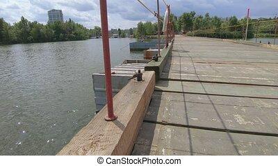 rivière, pont, sur, pantone