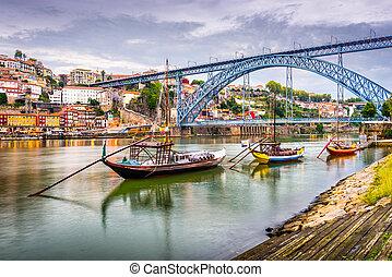 rivière, porto, portugal, vue
