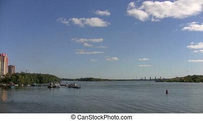 rivière, russie, vue