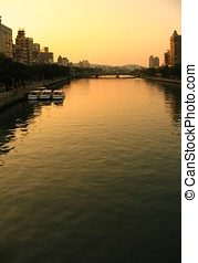 rivière, scène