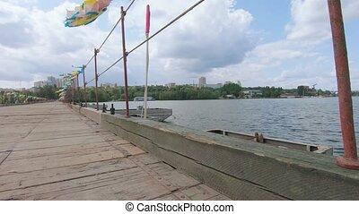 rivière, sur, pantone, pont