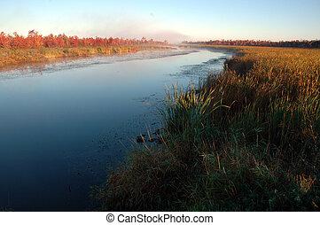 rivier, herfst