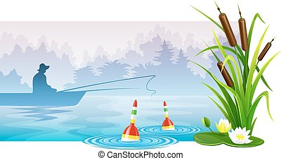 rivier, visser, visserboot