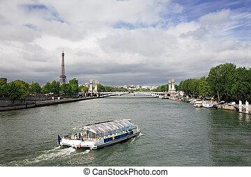 rivier, zegen, parijs, frankrijk