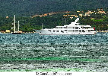 riviera, yacht, luxus, franzoesisch, kueste