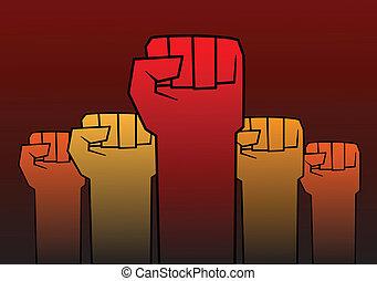 rivoluzione, pugno