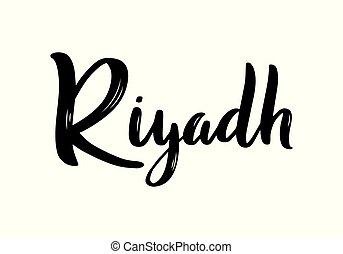 riyad, hand-lettering, calligraphy.