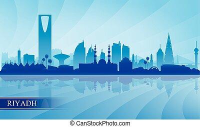 Riyadh city skyline silhouette background, vector...
