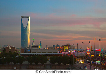 Kingdom tower - RIYADH - DECEMBER 09: Kingdom tower on...