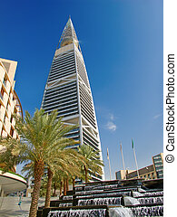 RIYADH - DECEMBER 22: Al Faisaliah tower on December 22, 2009 in Riyadh, Saudi Arabia. Al Faisaliah is the most distinctive skyscraper in Saudi Arabia