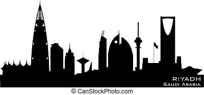 Riyadh Saudi Arabia city skyline vector silhouette - Riyadh...