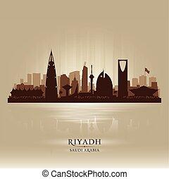 Riyadh Saudi Arabia city skyline vector silhouette