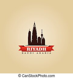 Riyadh Saudi Arabia city symbol vector illustration
