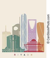 Riyadh V2 skyline poster