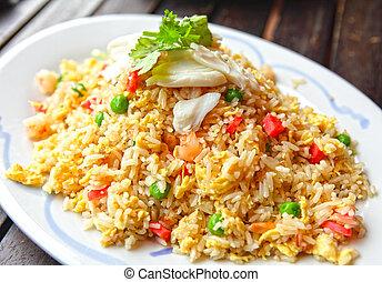 riz, frit