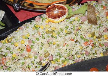 riz, salade