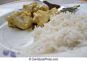 riz, sauce, moutarde, basmati