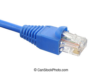 RJ-45 cable on pure white background
