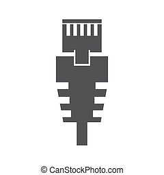 RJ 45 cable vector - RJ 45 cable on the white background....
