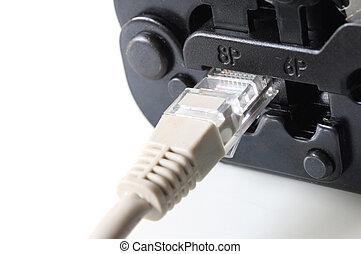 RJ45 and Modular plug crimps