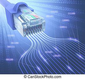 rj45, nätverk, binär
