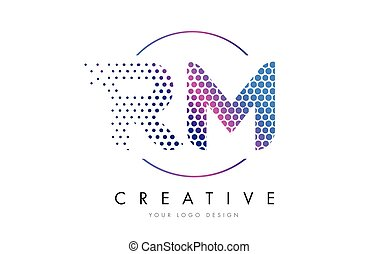 m pink magenta dotted bubble letter logo design vector m pink magenta dotted bubble letter logo design dots lettering m pink magenta dotted bubble letter