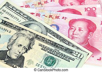 rmb, vs, dollar, nous, chinois