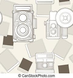 ročník kamera, seamless, model
