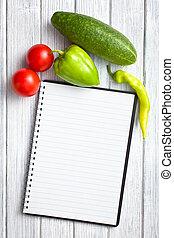 roślina, książka, recepta, czysty