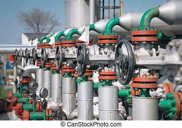 roślina, nafta, gaz, poddawanie procesowi