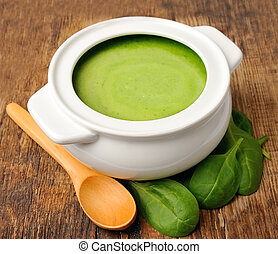 roślina, soup., śmietanka
