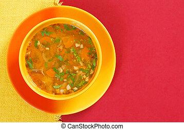 roślinna zupa
