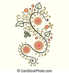 rośliny, ozdoba, kwiaty, projektować