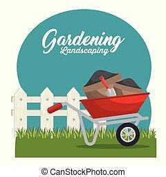 rośliny, sprytny, ogród, cultive
