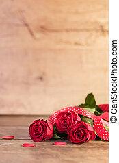 ro, dag, röd, valentinkort