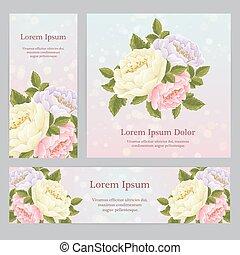 ro, flowers., grafisk, engelsk