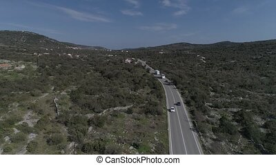Road 8 aerial view - Aerial view of the traffic at the road...