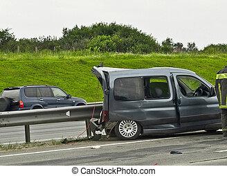 broken delivery car
