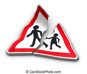 Road Accident Concept