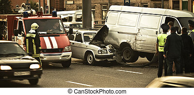 car accident in city
