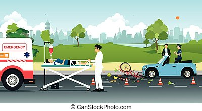 Road accidents - Cyclist accidents on collision with a car ...