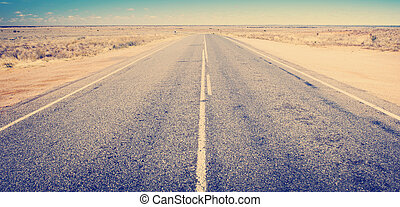 Open road ahead, endless road for concept
