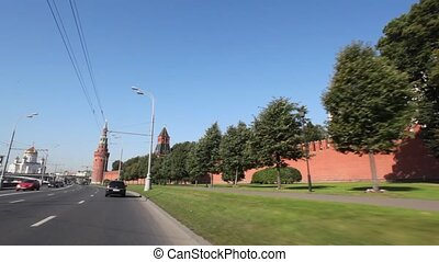 Road along walls of Kremlin