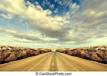 Road and landscape. Road Trips around the world