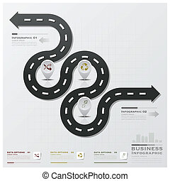 Road And Street Business Infographic Design Template