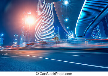 Road and urban background