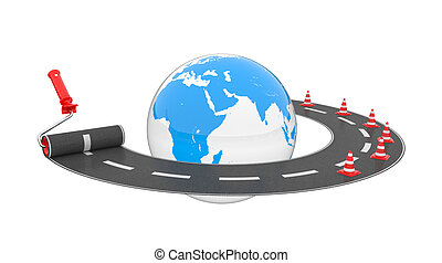 Road around globe