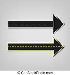 Road arrows 01 A