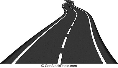 Road - Asphalt road on white background, vector eps10...